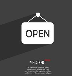 Open symbol flat modern web design with long vector