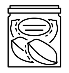 peanut fresh pack icon outline style vector image