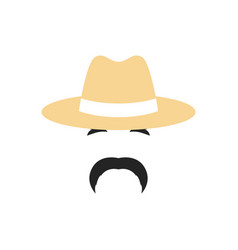 portrait of a farmer man in a hat people vector image