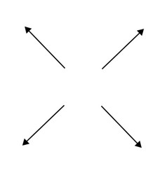 Radial radiating arrows for expand extend vector