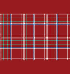 Red pixel seamless pattern check fabric texture vector