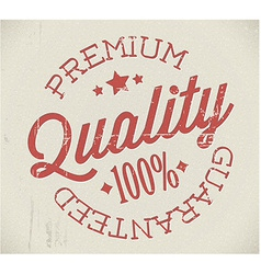 Retro premium quality stamp vector