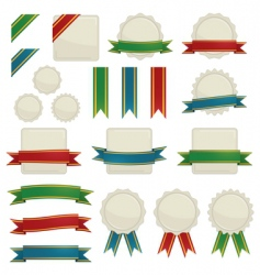 ribbons and seals vector image