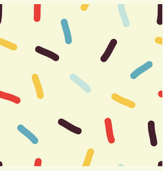 Seamless confetti pattern vector