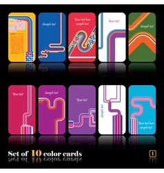 Set of ten abstract cards vector image vector image