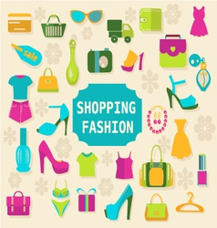 Shopping and Fashion background vector