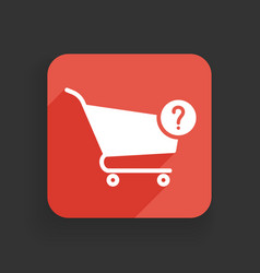 shopping cart icon with question mark vector image