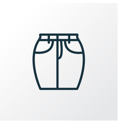 Short skirt icon line symbol premium quality vector