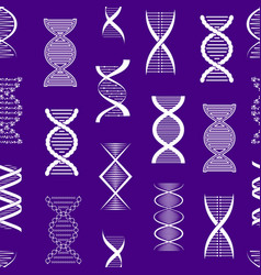 silhouette dna seamless pattern background vector image