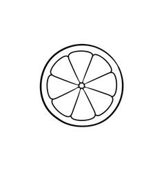 slice of lemon hand drawn sketch icon vector image
