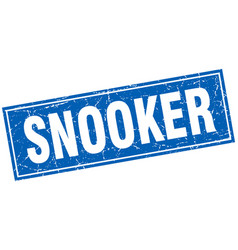Snooker square stamp vector