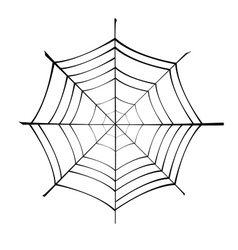 Spiderweb silhouette vector