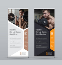 template vertical roll-up banner vector image
