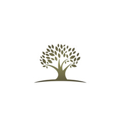 tree abstract environment logo vector image