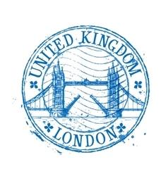 United Kingdom logo design template stamp vector