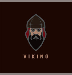 viking face vector image