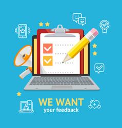 We want feedback concept vector