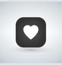 white heart icon over application button vector image