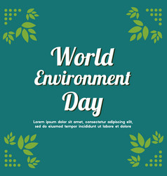 word environment day background tree vector image
