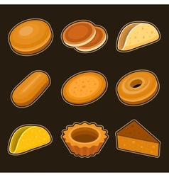 Baking icon set vector image vector image