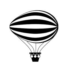 Balloon air zeppelin isolated icon vector