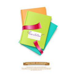 colorful stack of books brochures isolated vector image