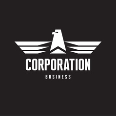 Corporation - Eagle Logo Sign in Classic Style vector image vector image