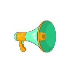 Green loudspeaker icon cartoon style vector image vector image