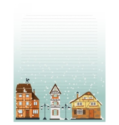 Winter letter paper template vector image