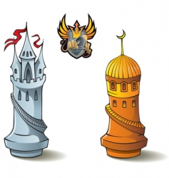 chess set rooks vector image vector image