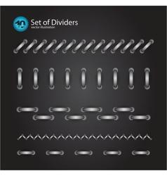 cord divider set vector image