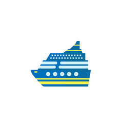cruise flat icon travel tourism vector image vector image