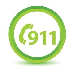 Green rescue icon vector