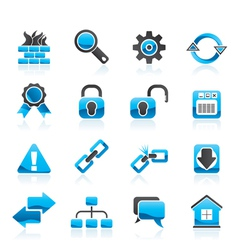 Internet and web site icons vector image vector image