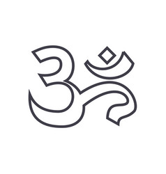 omindiameditation line icon sign vector image