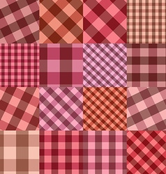 Seamless background of patchworks vector