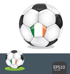 soccer euro ireland vector image vector image