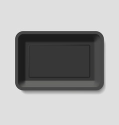 Empty plastic container vector