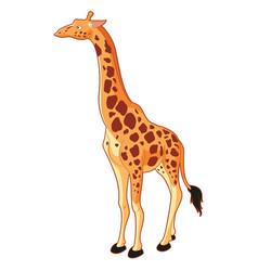 giraffe cartoon style vector image vector image