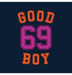 good boy typography t-shirt graphics vector image