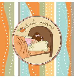 new baby girl arrived vector image vector image