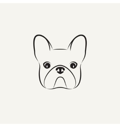 Stylized head of a dog on light background vector image vector image