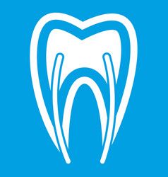 Tooth cross section icon white vector