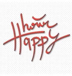 Happy hour lettering vector image vector image