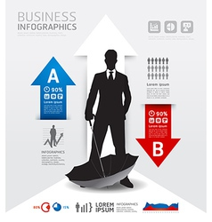 Infographics Business and financial concept vector image vector image