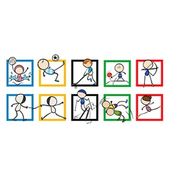 Logo design with different sports vector image vector image
