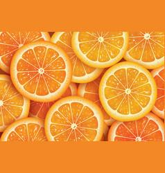orange slice background for summer vector image vector image