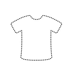 t-shirt sign black dashed icon on white vector image vector image