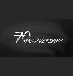 70 anniversary logo concept 70th years birthday vector image