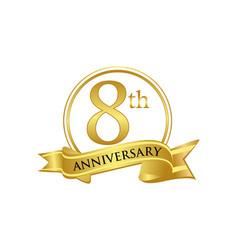 8th anniversary celebration logo vector image